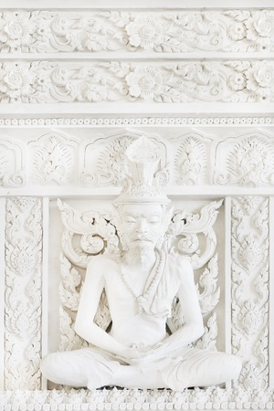 white recluse in temple photo