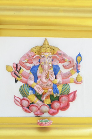 ganesh on wall photo