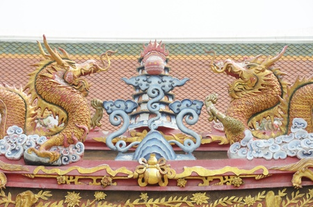 chinese dragon on roof photo
