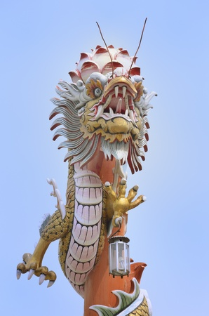 chinese dragon pole photo