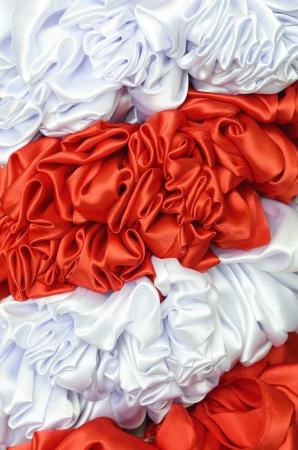 tissu blanc: tissu rouge et blanc Banque d'images