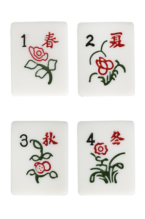 mahjong: mahjong black flower suit