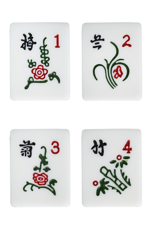 mahjong red flower suit