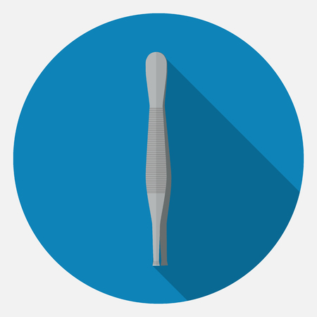 tweezers icon. Illustration