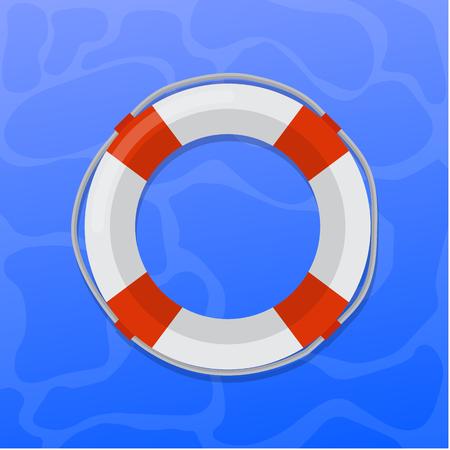 Lifebuoy vector flat design Illustration