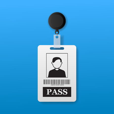 limited access: pass tag Illustration