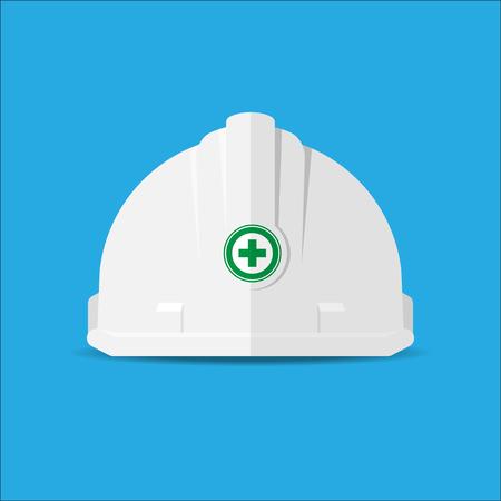white safetyhat Illustration