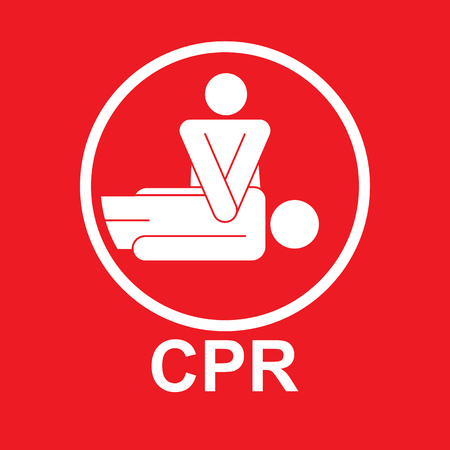 CPR Or Cardiopulmonary Resuscitation Vector icon