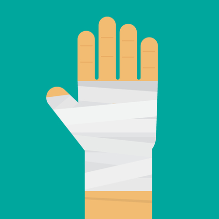 strapping: Hand tied elastic bandage Illustration