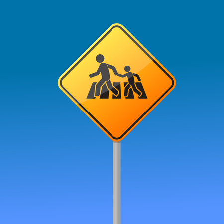 crossing road sign