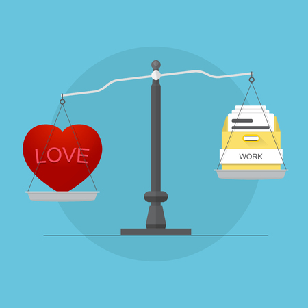 Balancing love and work Illustration