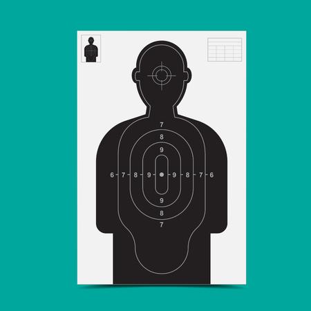 Target gun Illustration