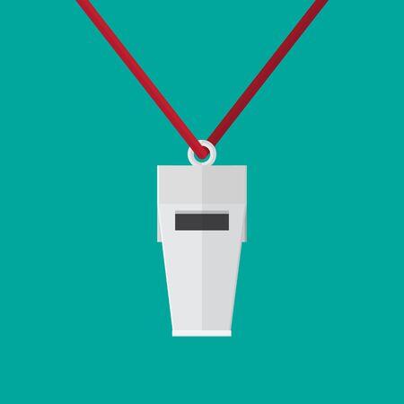 whistle vector icon.