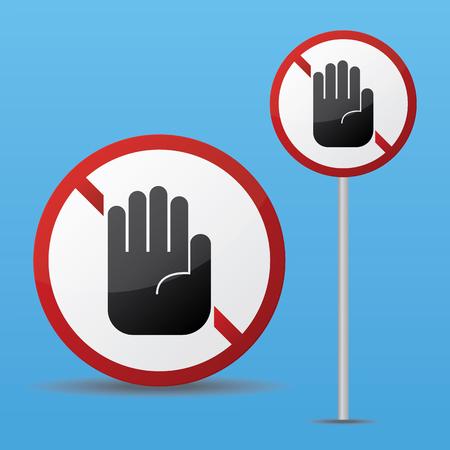 Stop Sign. Illustration