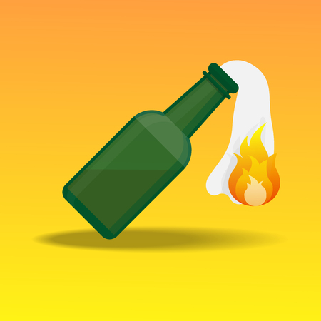 Molotov cocktail icon.