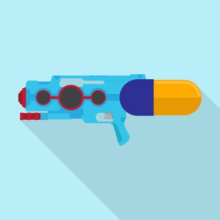 water gun vector flat design. Illustration