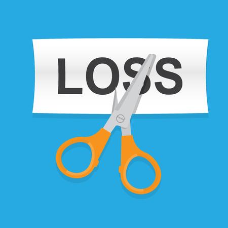 Cut loss concept. Vektorové ilustrace