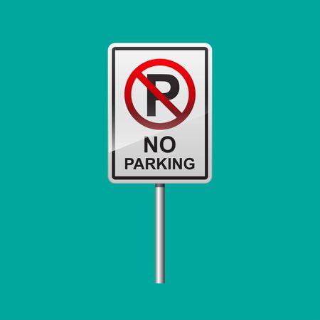 No parking sign vector illustration.