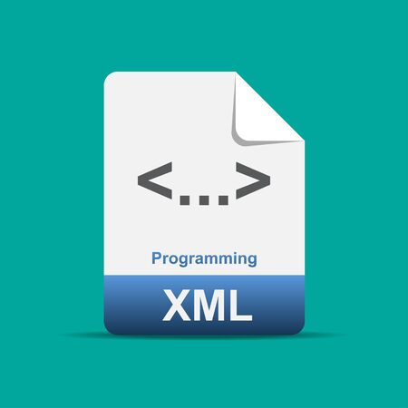 XML file icon vector illustration.  イラスト・ベクター素材