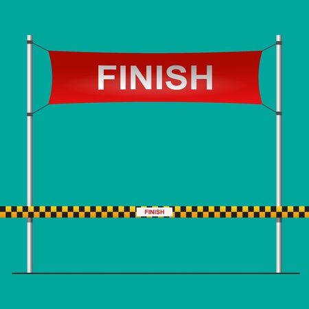 Finishing line vector flat design. Vettoriali