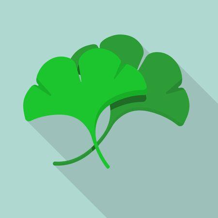 ginkgo leaf vector flat design.