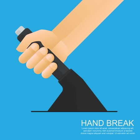 Hand brake vector flat design.