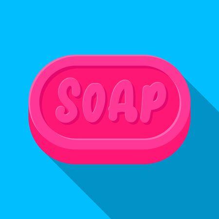 Soap brick icon vector flat design.