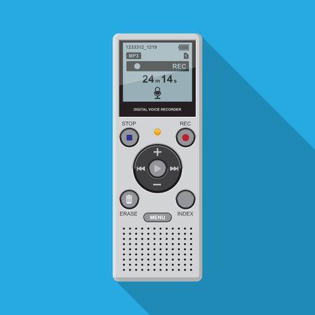 digital dictaphone vector flat design.