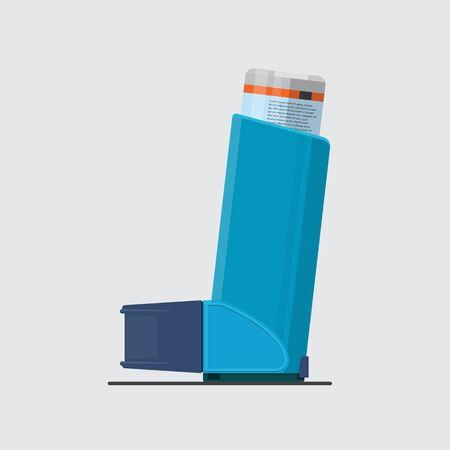 Diseño plano de vector de inhalador de asma.