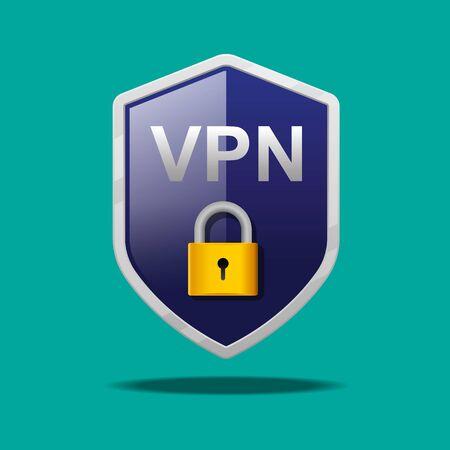 VPN icon vector illustration. Иллюстрация