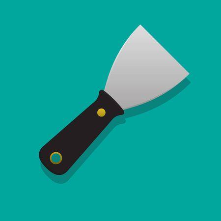 Putty knife vector illustration. Иллюстрация