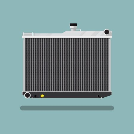 Car radiator icon vector flat design.