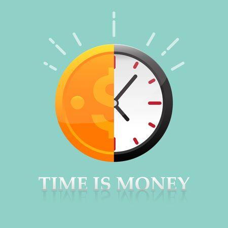 El tiempo es ilustración de vector de concepto de dinero. Ilustración de vector