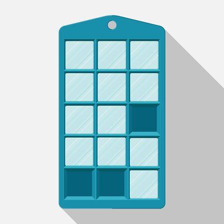 Silicon ice cube tray vector flat design.