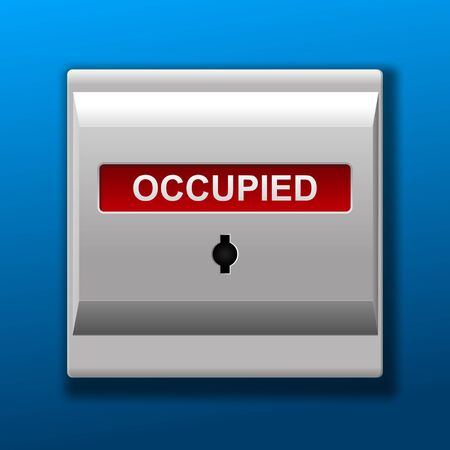 Occupied sign vector illustration.