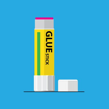 Glue stick vector flat design.