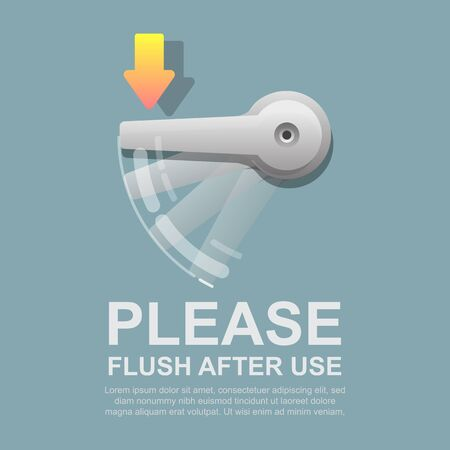 Please flush after use vector illustration.