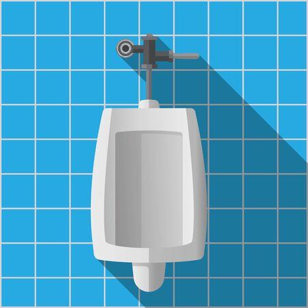 Urinals vector flat design. Stock Illustratie