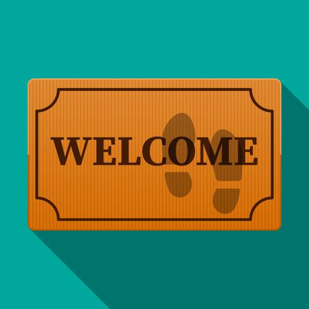 Wellcome mat vector flat design.