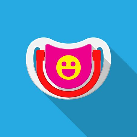 Baby pacifier icon vector flat design
