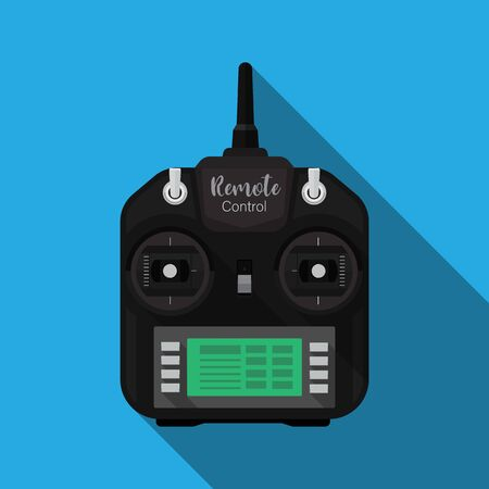 Radio control transmitter,Radio remote control vector flat design.