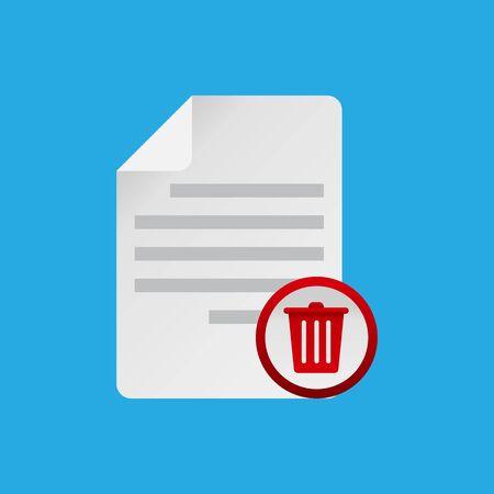 Delete File document icon.