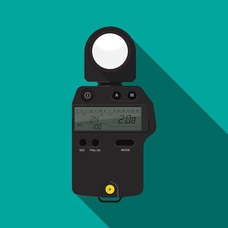 Flash meter vector flat design.