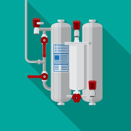 Drinking water filter icon vector flat design. Иллюстрация