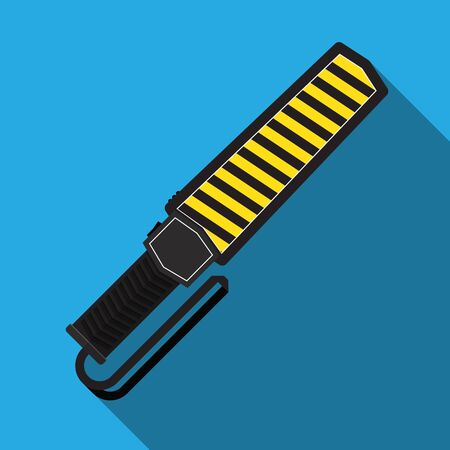 Hand held metal detector vector flat design. Иллюстрация