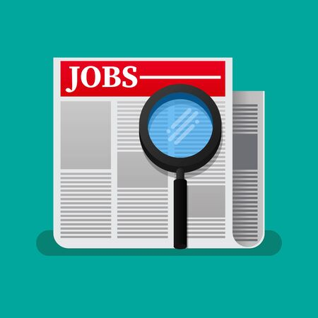Jobs search icon vector illustration. Vector Illustratie