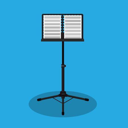Music stand vector Illustration. Vettoriali