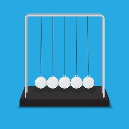 Newtons Cradle Vector Illustration.