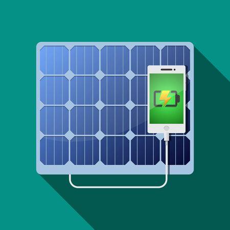 Solar panel vector flat design. Illustration