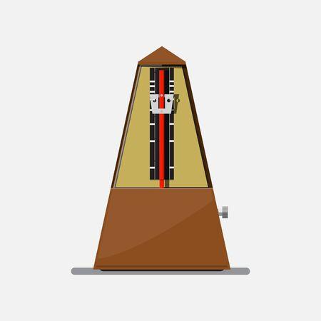Metronome icon vector flat design.